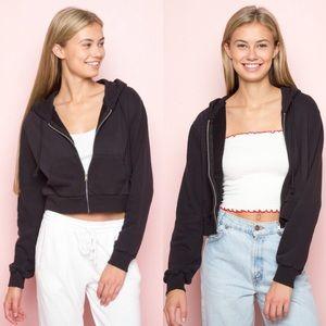 NWOT Black Crystal Hoodie Jacket